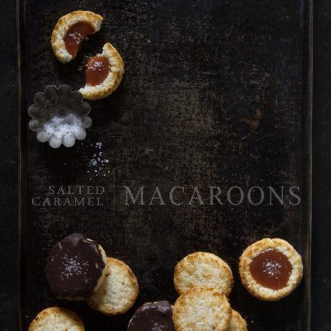 Salted Caramel Macaroon Thumbprint Cookies