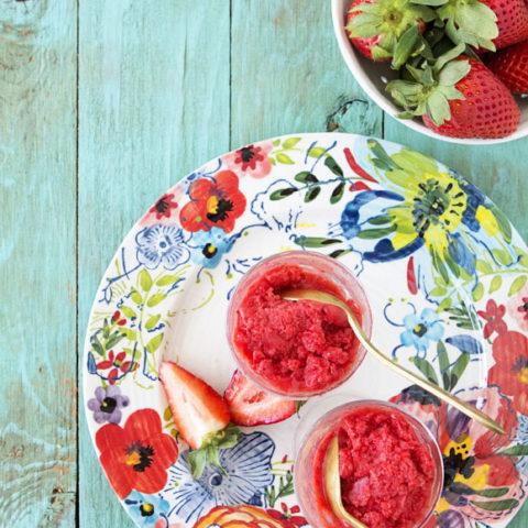 Strawberry and Jasmine Tea Granita