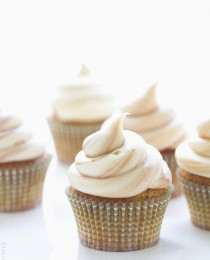 Banana Chocolate Chip Cupcakes with a Fluffy Marble Cream Cheese Frosting by Bakers Royale 210x260