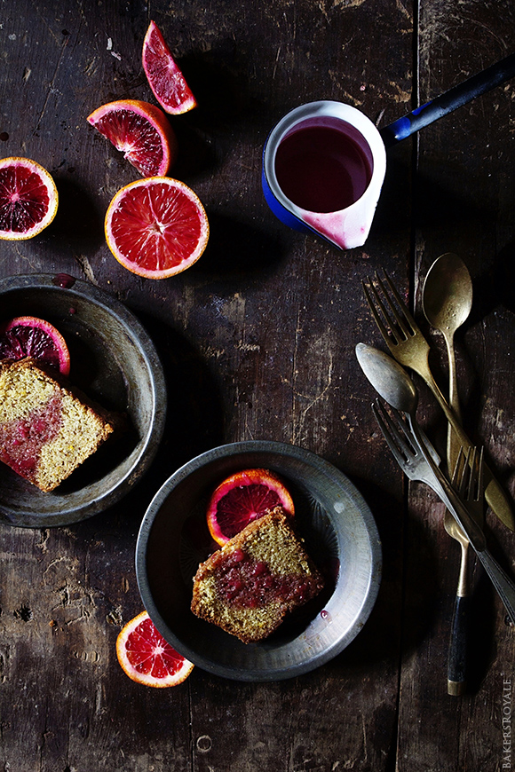 Blood Orange Pound Cake with Blood Orange Rum Syrup | Bakers Royale