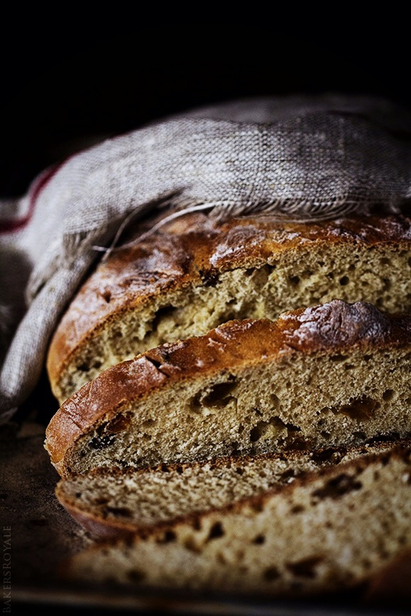 Cinnamon Raisin Irish Soda Bread from Bakersroyale