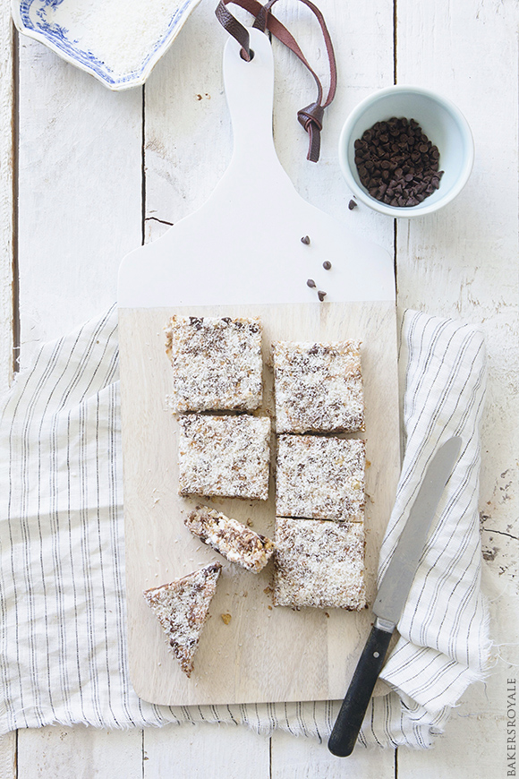 Coconut and Chocolate Almond Bars by Bakers Royale