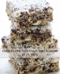 Coconut and Chocolate Almond Bars via Bakers Royale 210x260
