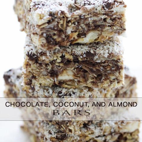 Coconut & Chocolate, Almond Bars