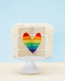 Amanda Rettke Rainbow Heart Cake