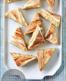 Banana Bars with Rum Frosting via Bakers Royale 210x260