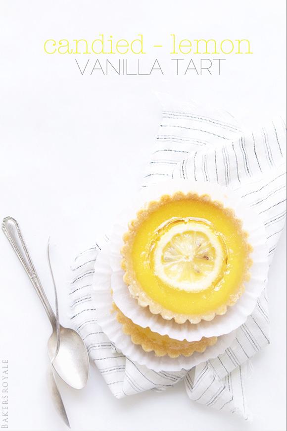 Candied Lemon Tart   Bakers Royale