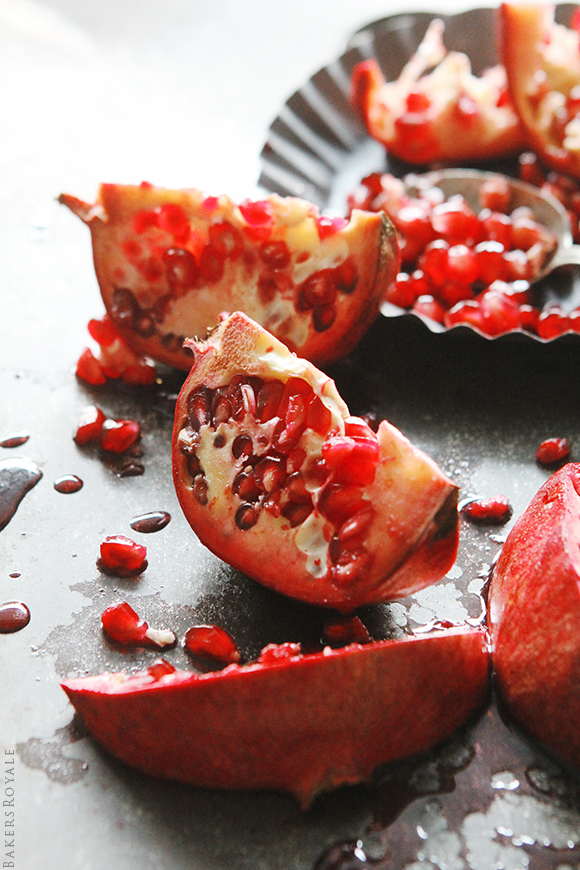 Pomegranate Seedings via Bakers Royale