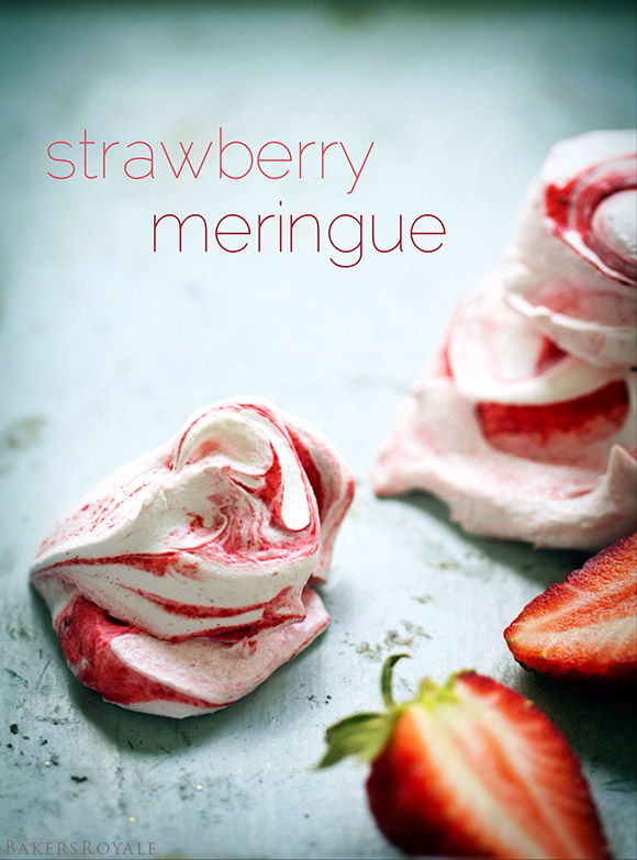 Strawberry Meringue | BakersRoyale