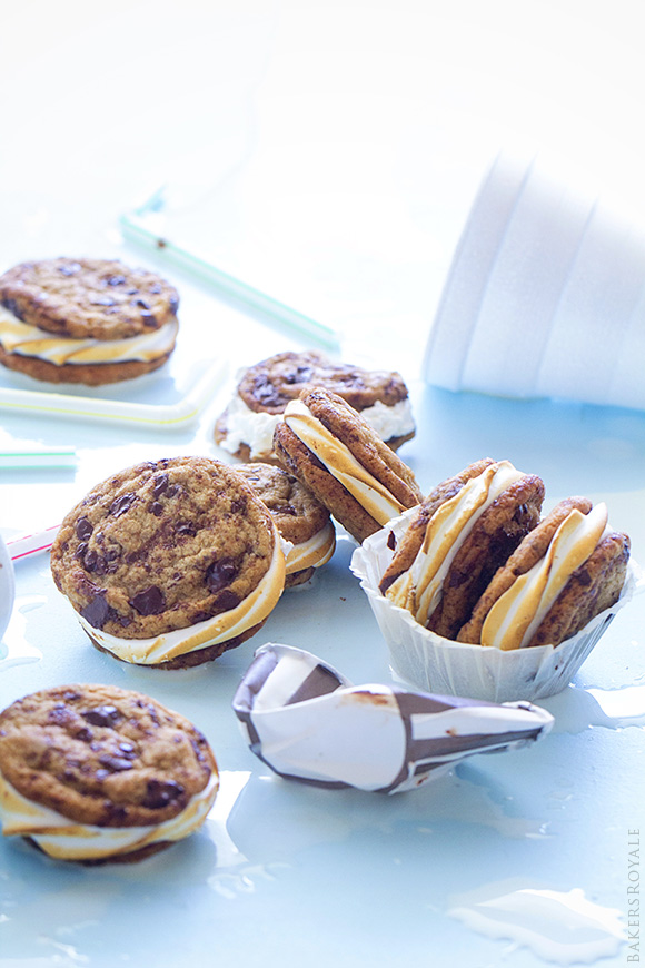 2Chocolate Chip Smores Sandwich Cookies via Bakers Royale1