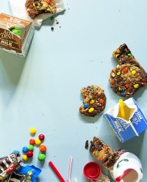 Brownie and Oatmeal Monster Cookies via Bakers Royale 210x260