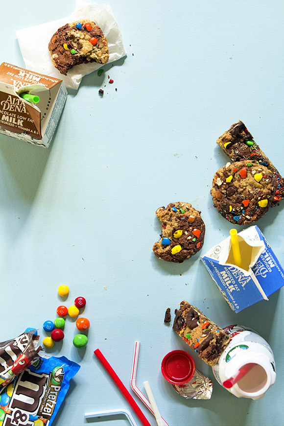 Brownie and Oatmeal Monster Cookies via Bakers Royale