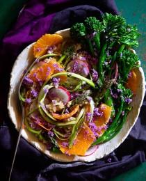 Shaved Asparagus Salad via Bakers Royale 210x260