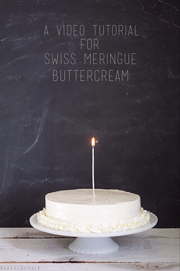A video tutorial for how to make Swiss Meringue Buttercream