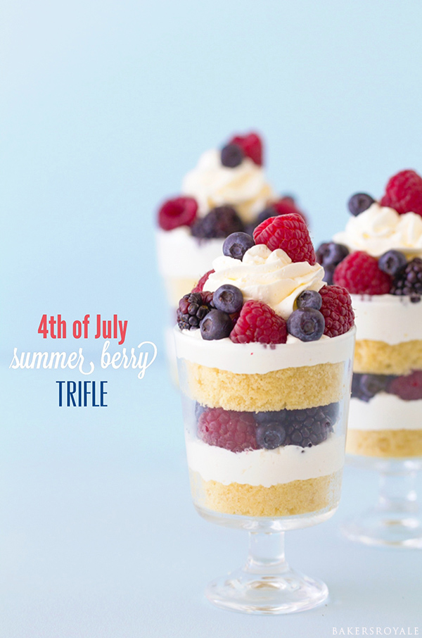 4th of July Summer Berry Trifle from Bakers Royale