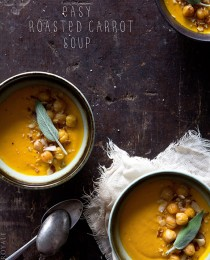 Roasted Carrot Soup via Bakers Royale 210x260