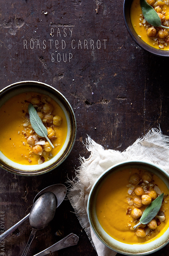 Roasted Carrot Soup via Bakers Royale