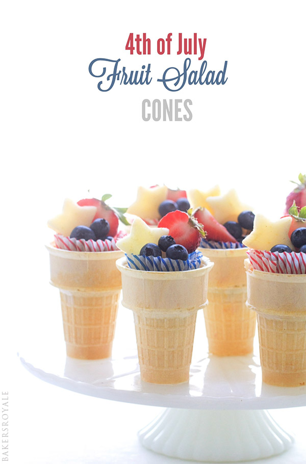 4th of July Fruit Cones via Bakers Royale