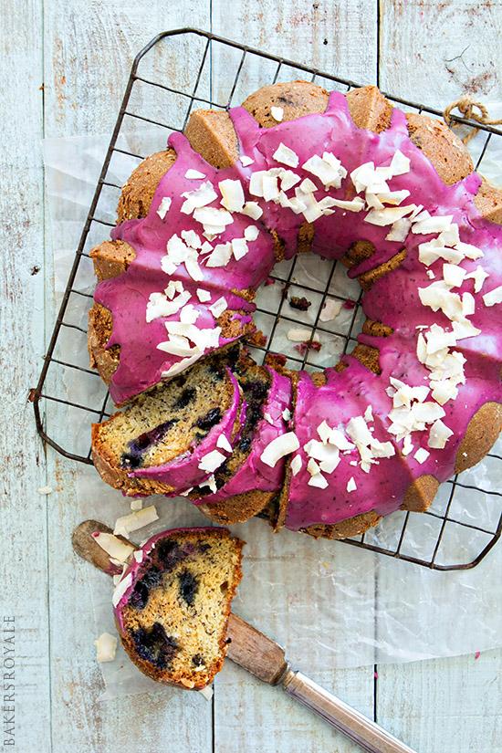 Blueberry-Coconut Banana Bread