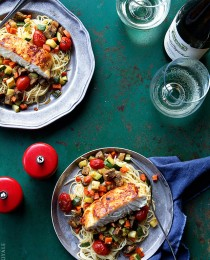 Halibut Ratatouille via Bakers Royale