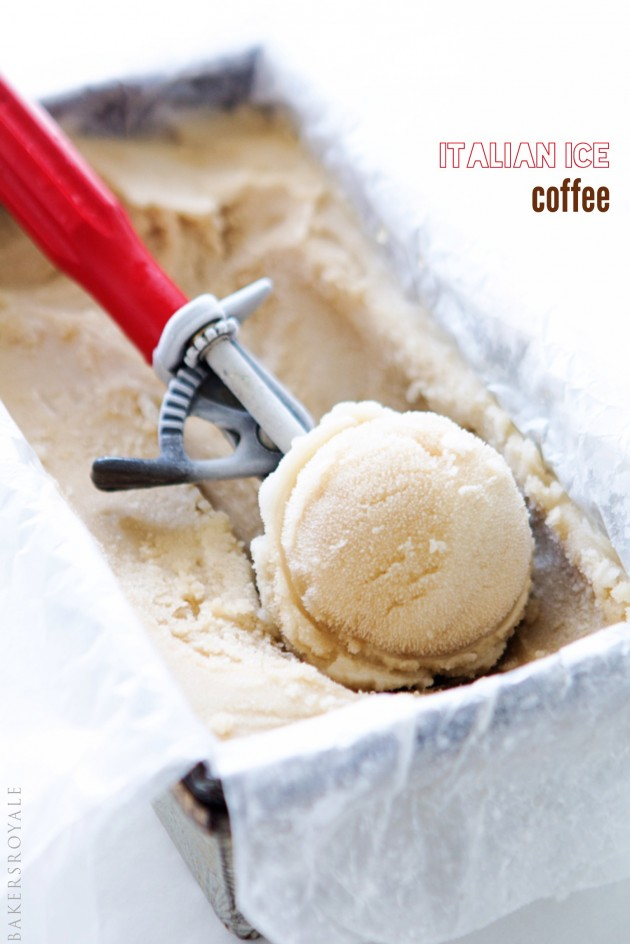 Italian Ice Coffee | Bakers Royale