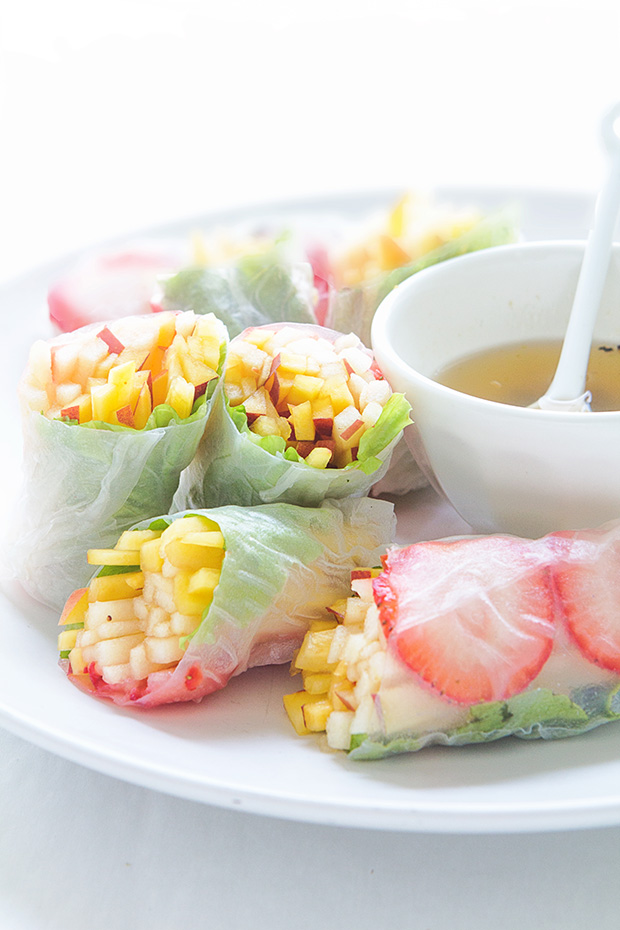 Summer Fruit Spring Rolls via Bakers Royale