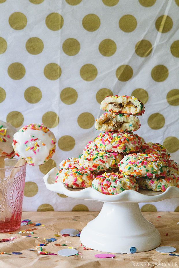 Candy Bar Cookie Pops