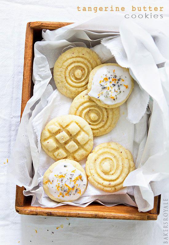 Tangerine Butter Cookies via Bakers Royale