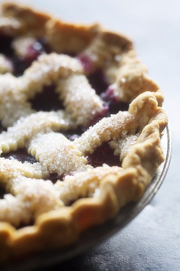 Mixed Berry Lattice Pie from Bakers Royale