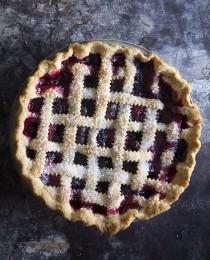 Mixed Berry Lattice Pie via Bakers Royale 210x260