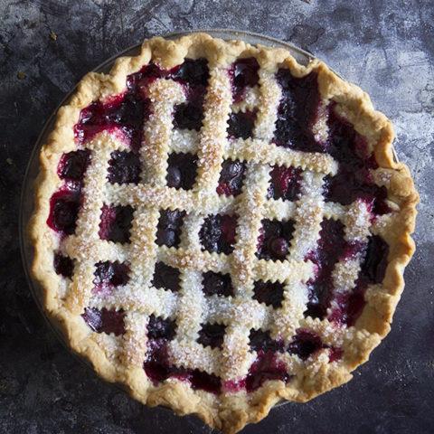 Mixed Berry Lattice-Top Pie