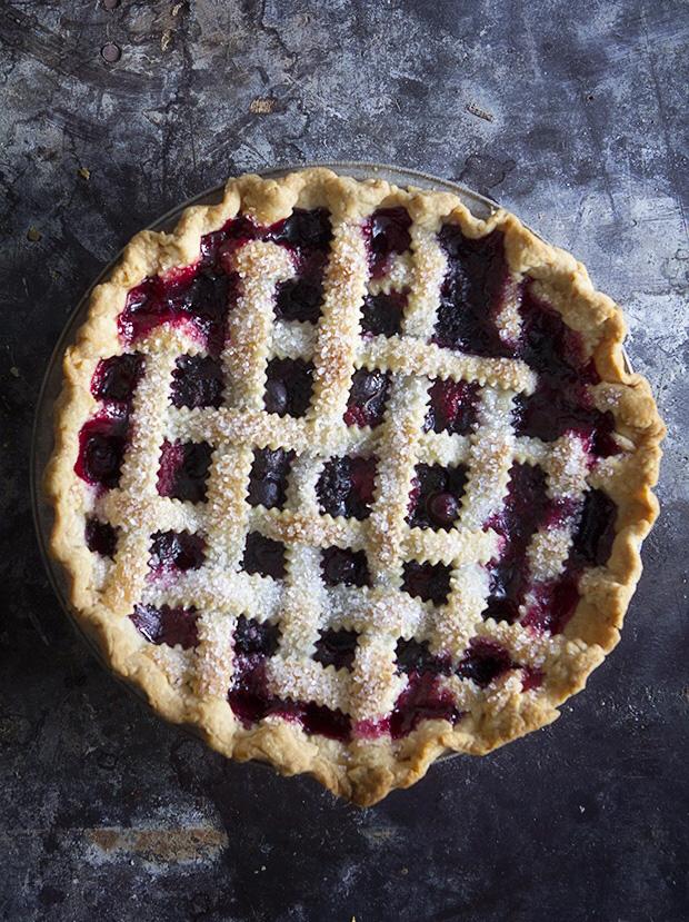 Mixed Berry Lattice Top Pie