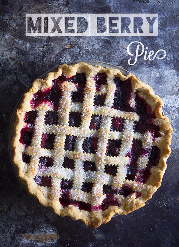 Mixed Berry Lattice Pie via Bakers Royale