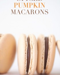Spiced Pumpkin Macarons via Bakers Royale 210x260