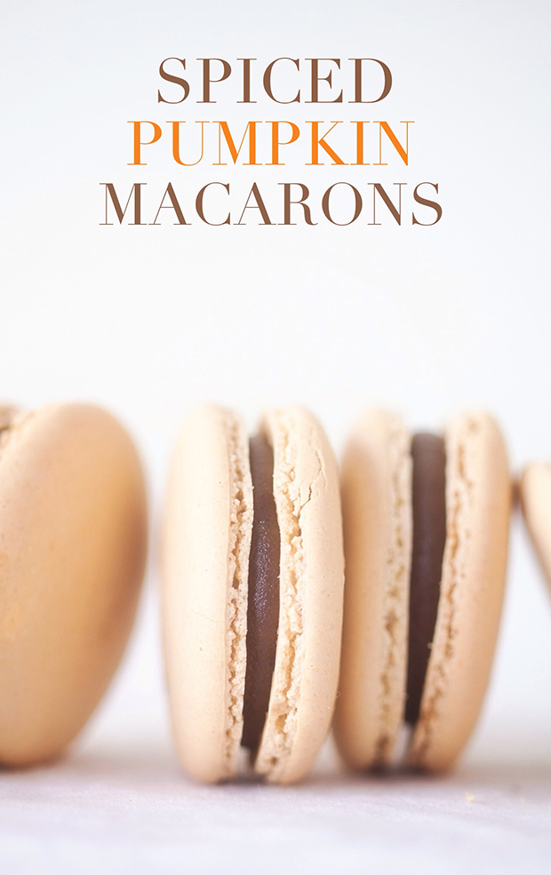 Spiced Pumpkin Macarons via Bakers Royale