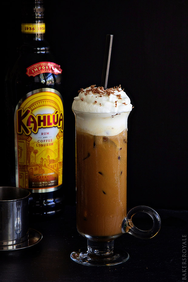 Boozy Vietnamese Iced Coffee via Bakers Royale