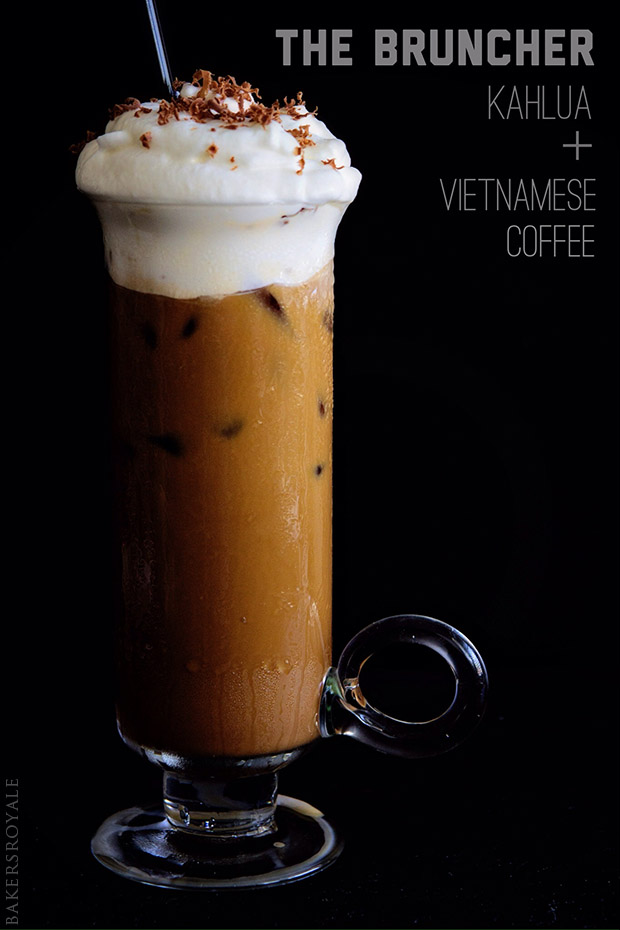 Boozy Vietnamese Iced Coffee with Bakers Royale