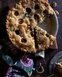 Pear and Cranberry Pie with Bakers Royale