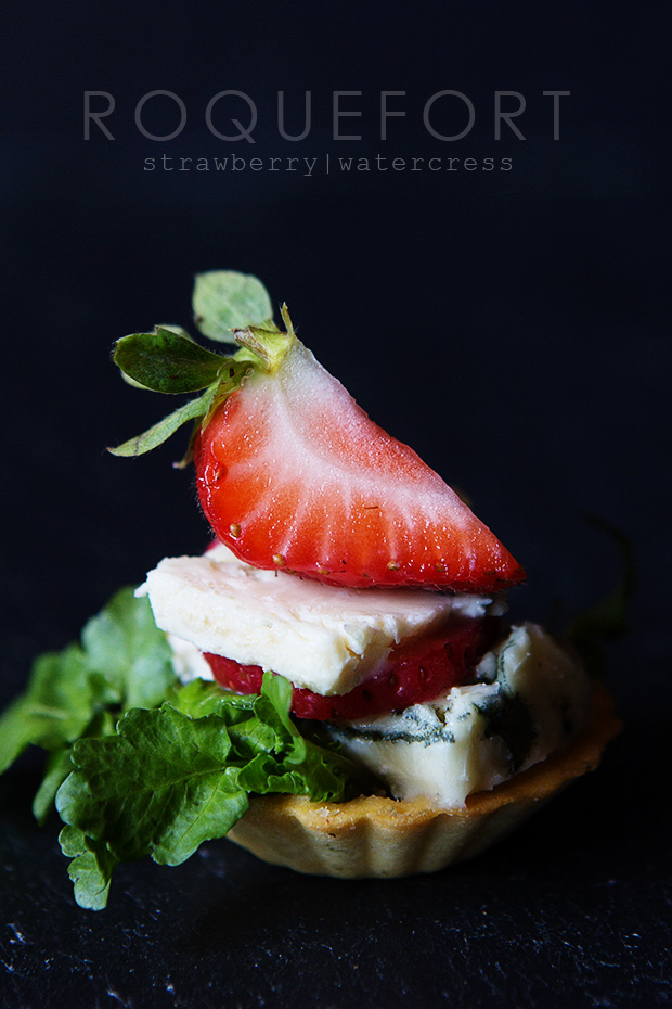 Roquefort and Strawberry Tartlet via Bakers Royale