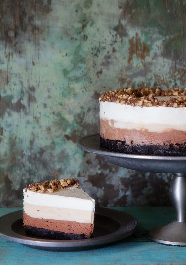 Snickers Silk Pie via bakers royale