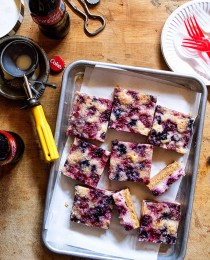 Mixed Berry Cheesecake Crumble Bars via Bakers Royale 210x260