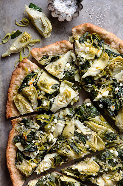 Spinach Artichoke Flatbread via Bakers Royale