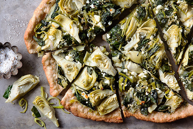 Spinach and Artichoke Flatbread with Bakers Royale