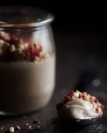 Dairy Free Cashew Pudding with Raspberry Granola Bakers Royale 210x260