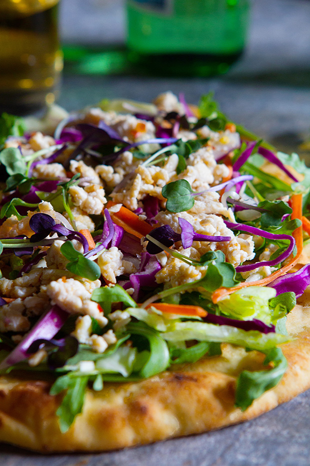 Larb Chicken Flatbread by Bakers Royale