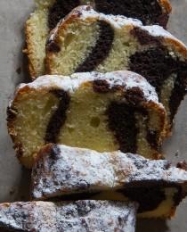 Milk Chocolate Marbled Loaf Cake   BHG Delish Dish