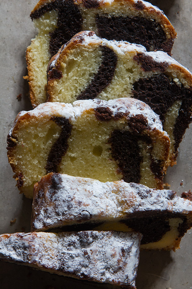 Espresso Marbled Pound Cake