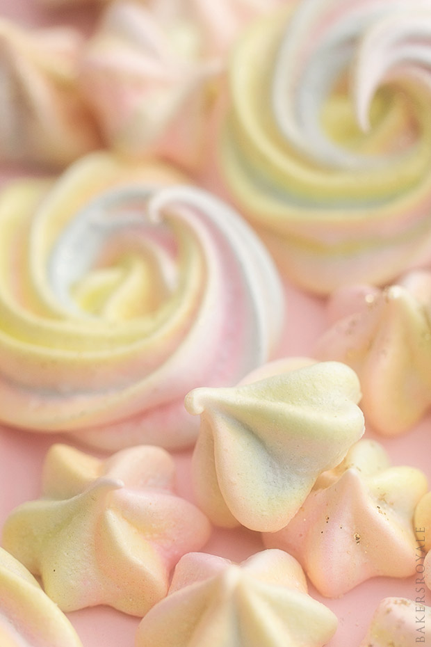 Rainbow Meringue Kisses from Bakers Royale