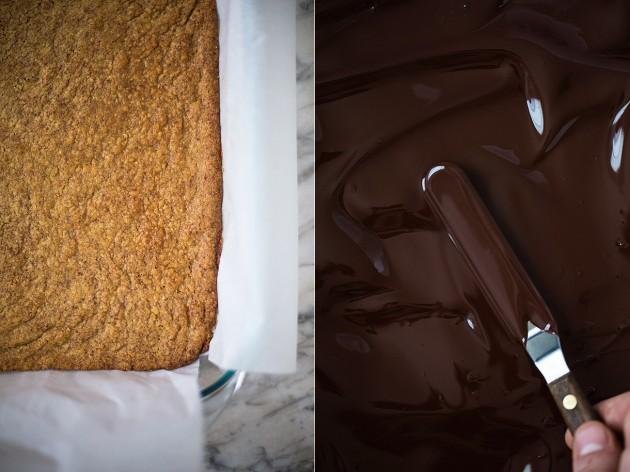 Shortbread Crust and Chocolate Spread via Slim Palate