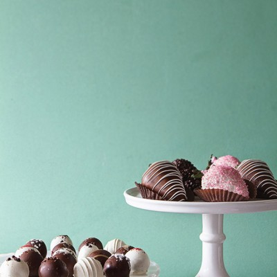 Cake Truffles and Chocolate Covered Strawberries   Bakers Royale copy